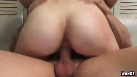 Beautiful Japanese Minako Uchida is occupied by two cocks