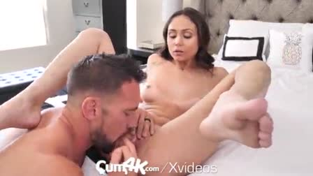 One very nicelooking angel gets pounded very hard