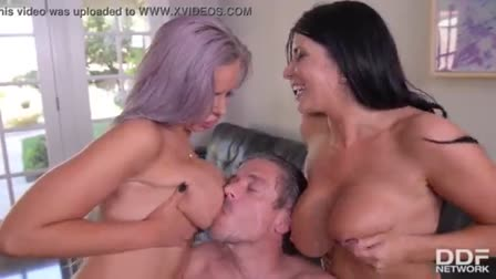 Two horny cunts take turns getting anally pounded